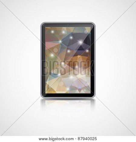 Vector realistic tablet