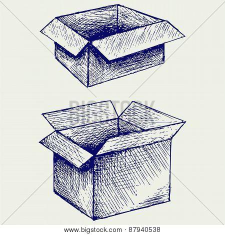 Empty, cardboard box