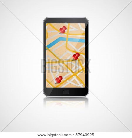 Smart phone with GPS navigation