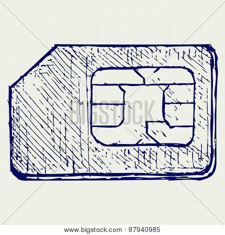 Mobile phone sim