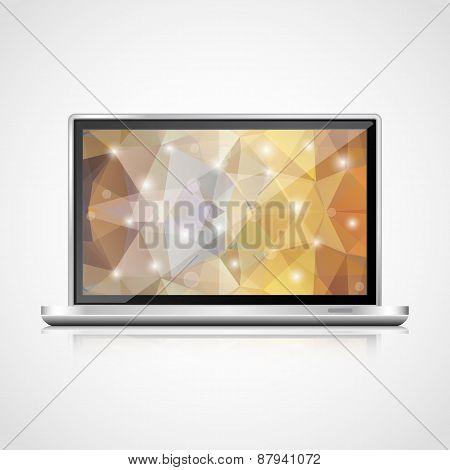 Vector realistic open  laptop