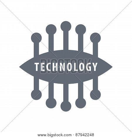 Vector Logo Abstract Oval Chip