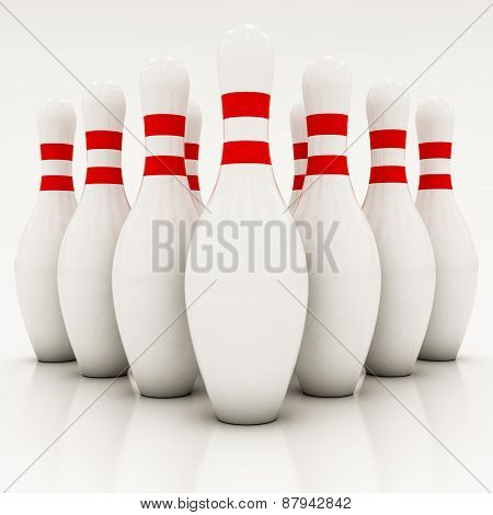 White Bowling Pins