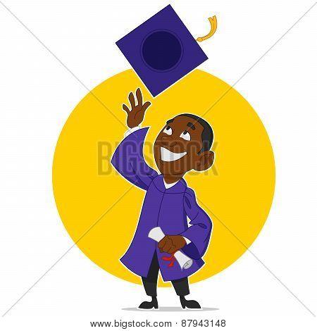 Graduate rejoices