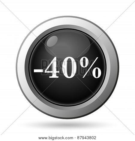 40 Percent Discount Icon