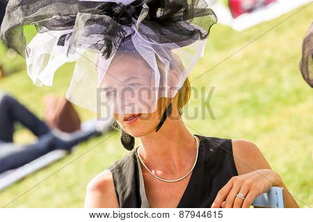 Chantilly - June 15 : Lifestyle At Prix De Diane In Racecourse, Near Paris On June 15, 2014, France.