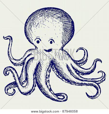 Tentacles octopus