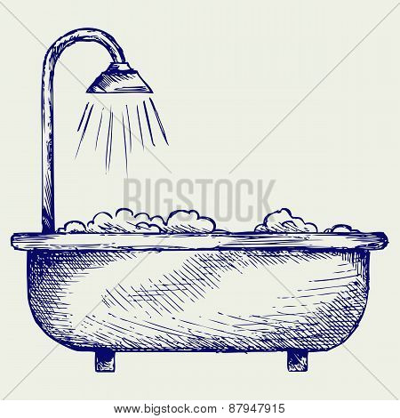 Bath. Doodle style