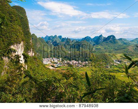 Karst mountain landscape near Yangshuo