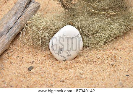 Howlite On Beach