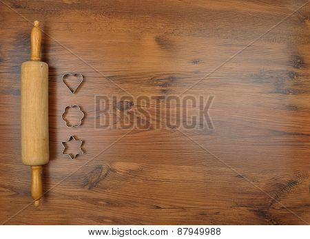Biscuit Cutter And Rolling Pin