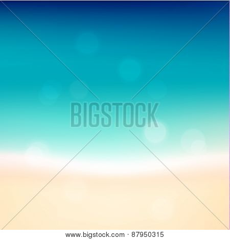 Abstract seashore illustration with defocused lights - eps10