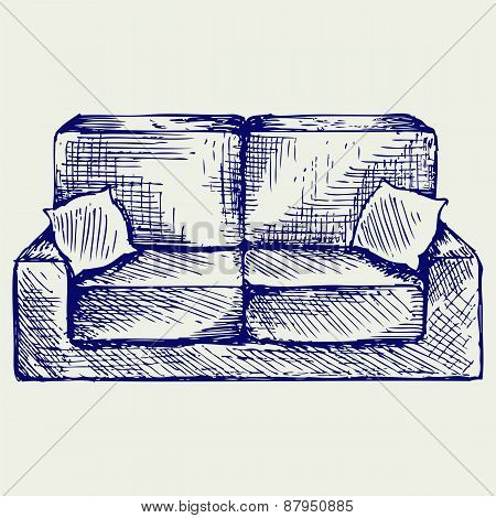 Furniture. Doodle style