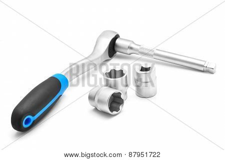 Ratchet Spanner And Tubular Socket Bits