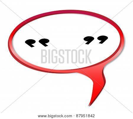 Quotation Marks Speech Bubble