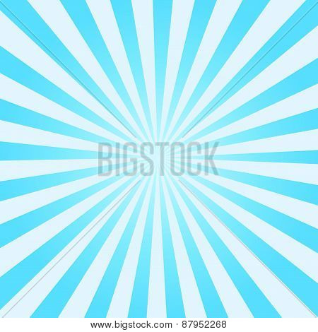 Blue Vector Sunburst Background