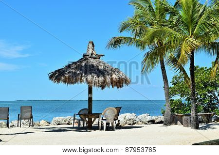 Beach in  Florida Keys