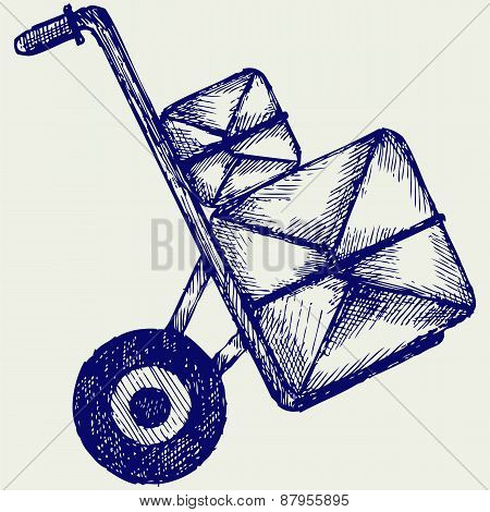 Hand truck with post packages