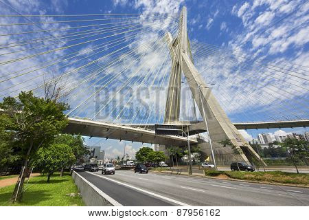 The Octavio Frias De Oliveira Bridge In Sao Paulo, Brazil