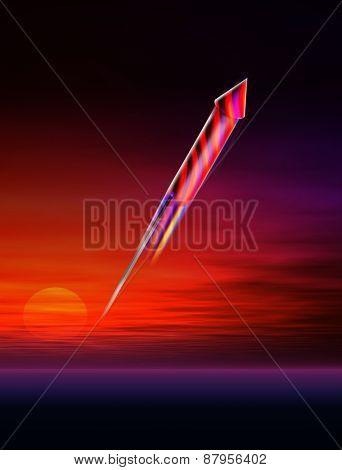 Rocket firework blast