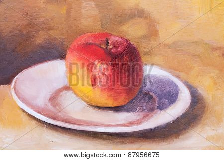 Vector illustration, Red apple