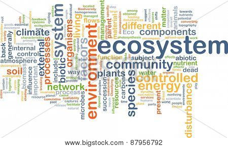 Background text pattern concept wordcloud illustration of ecosystem