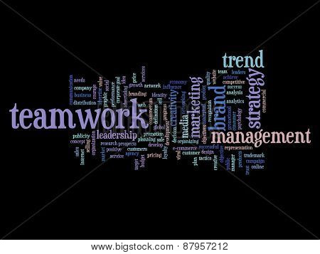 Concept or conceptual abstract business success or marketing word cloud or wordcloud isolated on background