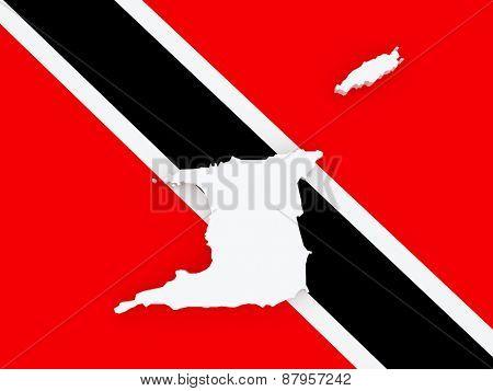 Map of Trinidad. 3d