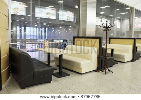 MOSCOW, RUSSIA  -  MARCH 26, 2015: Interior of the cafe