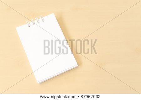 White Small Notebook With Blank Cover