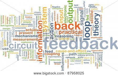 Background text pattern concept wordcloud illustration of feedback