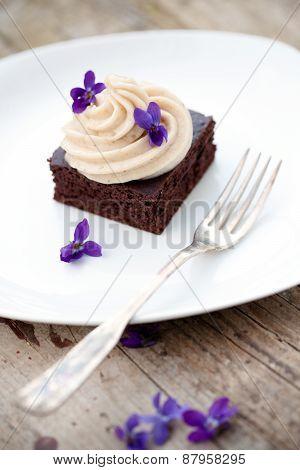 Cocoa Brownie With Banana Ice Cream