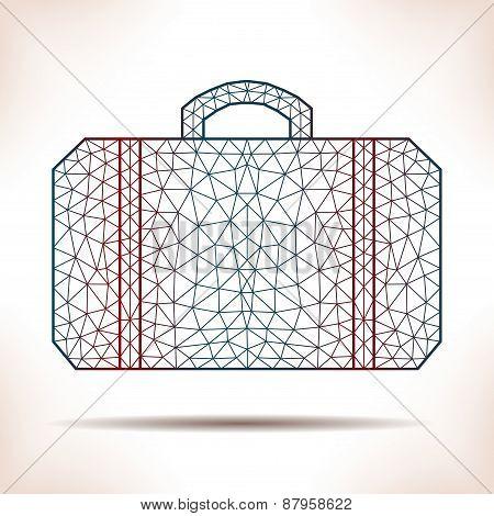 Geometric Suitcase.