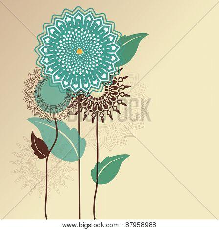 Graphic flower border