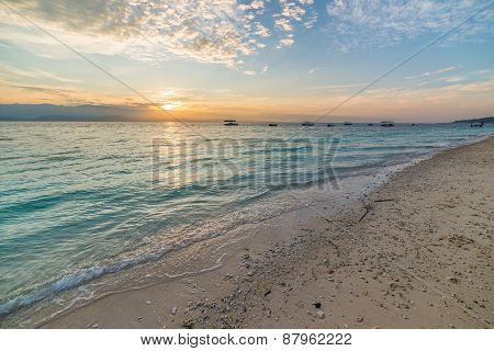 Romantic Seascape At Sunrise