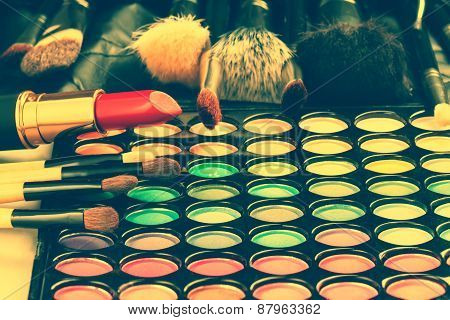 Make-up tools. Toned image
