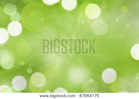 Abstract green and white circles background