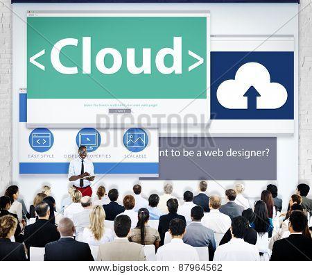 Business People Cloud Presentation Concept