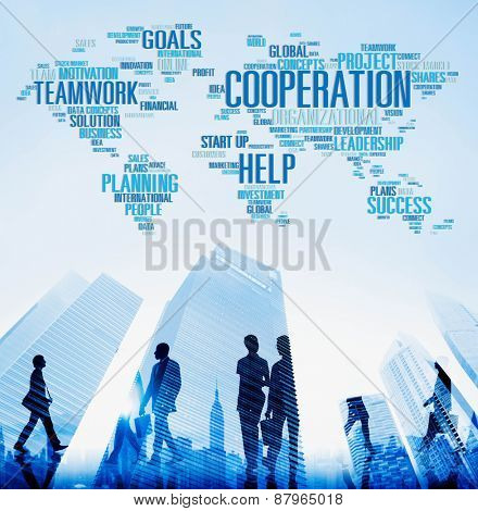 Cooperation Teamwork Assistance Help Support Concept