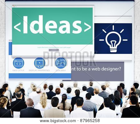 Business People Ideas Web Design Concept