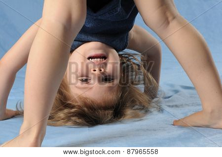 Child Girl Upside Down
