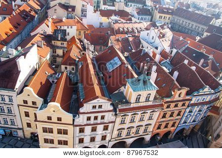 View of old town square in Prague.