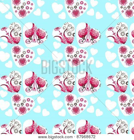 Abstract Elegance Romantic Hearts Backdrop