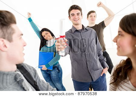 Successful Man Student