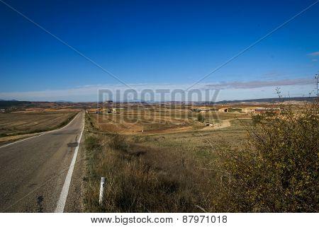 Estepas De Belchite, Zaragoza, Aragon, Spain