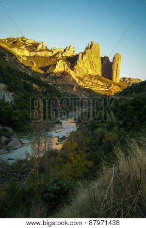 Malos Riglos, Huesca, Aragon, Spain