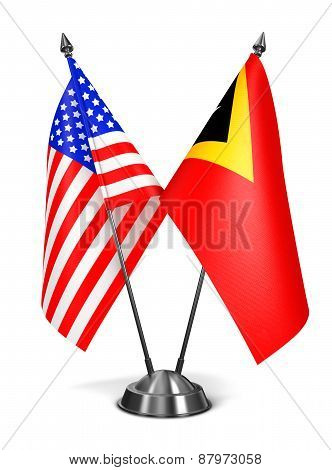 USA and East Timor - Miniature Flags.