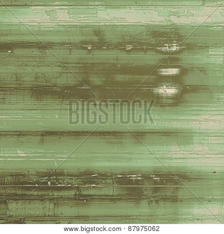 Abstract grunge background with retro design elements and different color patterns: brown; gray; green