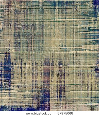 Beautiful vintage background. With different color patterns: blue; brown; gray; green