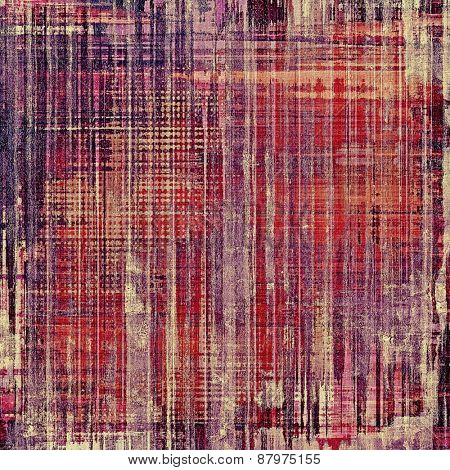 Old grunge background with delicate abstract texture and different color patterns: purple (violet); red (orange); pink